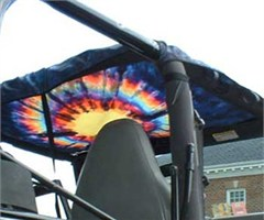 All Things Jeep Jeep Half Top Transluscent Tie Dye Top by XSkinz