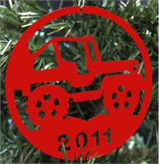 2011 Holiday Ornament - Side Facing Jeep Wrangler