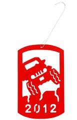Commemorative 2012 Holiday Ornament - Jeep Wrangler