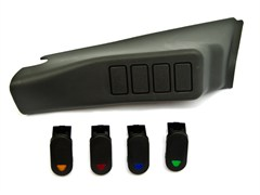 A-Pillar Switch Pod Kit, Jeep Wrangler JK (2007-2010)