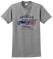 All American Jeep Pride Men's T-Shirt in Sport Gray