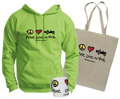 """All Things Jeep """"Peace, Love, and 4x4s"""" Gift Set for Women"""