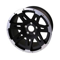 XHD Wheel - 17X9 Wrangler JK 2007-2017 Black Rugged Ridge