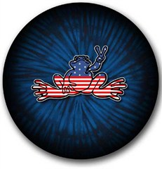 CLOSEOUT - American Flag Peace Frog Tire Cover