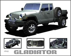 Jeep Poster/Print Jeep Gladiator Concept JK