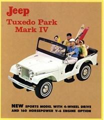 "Closeout: Jeep Poster/Print 1965 Jeep CJ5 Tuxedo Park Ad 9""x12"""
