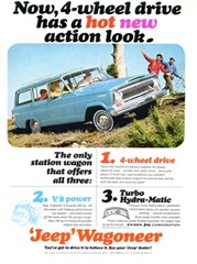 Jeep Poster/Print 1965 Kaiser Jeep Wagoneer Ad
