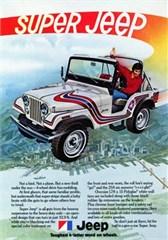 """Closeout: Jeep Poster/Print 1973 Super Jeep CJ5 Ad 9""""x12"""""""