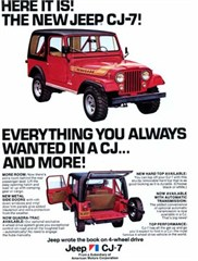 Jeep Poster/Print The NEW 1976 AMC Jeep CJ-7 Ad