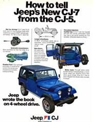 Jeep Poster/Print 1976 AMC Jeep CJ-7 Ad (CJ5 Comparison)