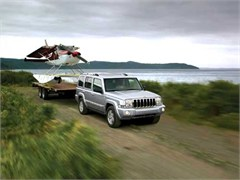 Jeep Poster/Print 2007 Jeep Commander Limited (Towing Sea Plane)
