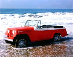 Jeep Magnets, 1967 Red Jeepster at the Beach