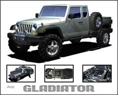 Jeep Magnets, Jeep Gladiator Concept JK