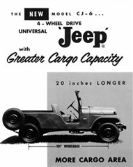Jeep Magnets, 1960 Willys Jeep CJ-6 Long Wheel Base Ad