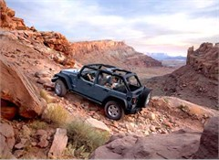 Jeep Magnets, 2007 Jeep JK Wrangler Unlimited Rubicon (Off Road Climb)