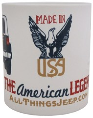 """The American Legend"" Mug by All Things Jeep"