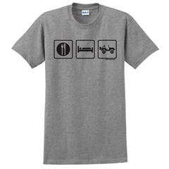 """Eat, Sleep, 4x4"" Unisex Short Sleeved T-Shirt"