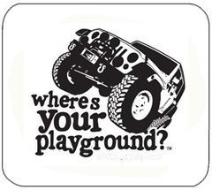 Mousepad - Where's Your Playground? 4 Door JK