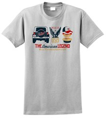 """The American Legend"" Grey Shirt by All Things Jeep"