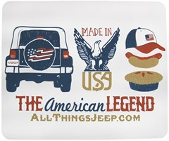"""""""The American Legend"""" Mousepad by All Things Jeep"""