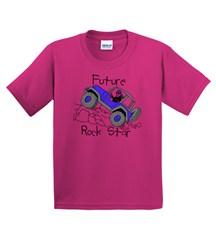 Kids T-Shirt: Future Rock Star on Pink Tee