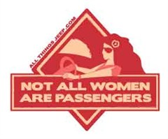 "Jeep Girls Pink V-Neck Hoodie Shirt: ""Not all Women are Passengers"""