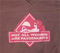 """Jeep Girl Football Jersey (Chocolate/Pink): """"Not All Women are Passengers"""""""