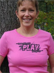 "Offroad Apparel: ""Take it out and Play with It"" Ladies Pink Tee"