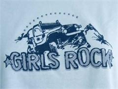 """Girls Rock"" Long Sleeve Tee Shirt for Women"