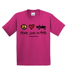 """""""Peace, Love & 4x4s"""" Youth Tee"""