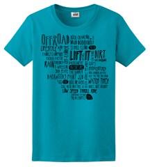 Off-Road Adventure WORDS T-Shirt, Women's