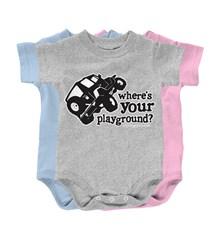 """Where's Your Playground?"" Wrangler Infant Creeper"