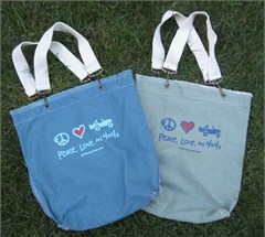 Peace, Love & 4x4s Raw Edge Tote Bag