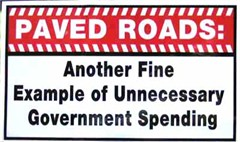 Paved Roads: Another Example of Unnecessary Government Spending