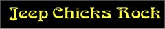 Jeep Chicks Rock Decal (Yellow)