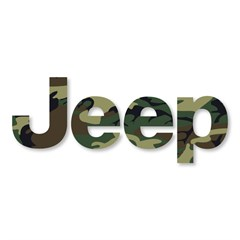 Jeep Logo Decal in Camouflage (1 decal)
