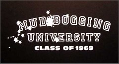"""""""Mud Bogging University"""" White Decal"""