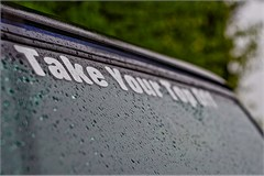 """""""Take Your Top Off"""" Jeep decal (large/white)"""