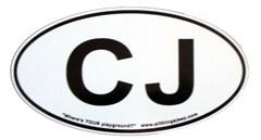 """CJ Oval """"Euro"""" Sticker for your Jeep CJ"""