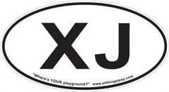"""XJ Oval """"Euro"""" Sticker for your Jeep XJ"""