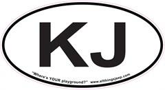 "KJ Oval ""Euro"" Sticker for your Jeep KJ"