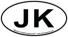"""JK Oval """"Euro"""" Sticker for your Jeep JK"""