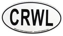 "CRWL Oval ""Euro"" Sticker (for rockcrawling fans)"