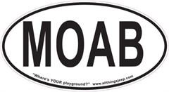 "MOAB Oval ""Euro"" Sticker"