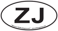 """ZJ Oval """"Euro"""" Sticker for your Jeep Grand Cherokee"""