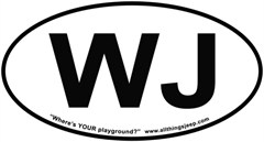 """WJ Oval """"Euro"""" Sticker for your Jeep Grand Cherokee"""