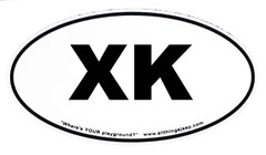"""XK Oval """"Euro"""" Sticker for your 2006-up Jeep Commander"""