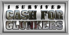 I Survived Cash for Clunkers Sticker