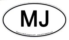 MJ Euro-Style Oval Decal (Jeep Comanche)