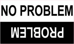 """Funny """"No Problem/Problem"""" Off-Road Decal"""
